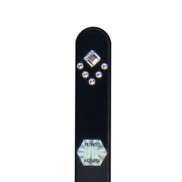 ART DECO Crystal Nail File Black Long by Blazek detail
