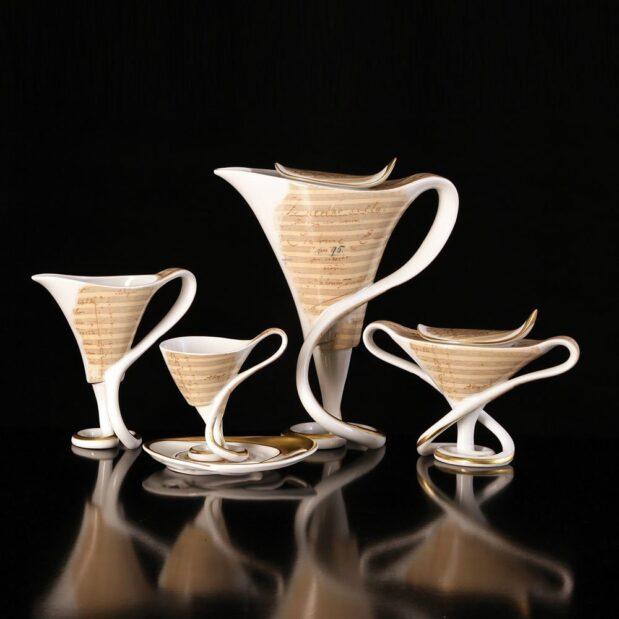 Antonin Dvorak Porcelain Coffee Set Limited Edition Crystallo by Thun Studio 107