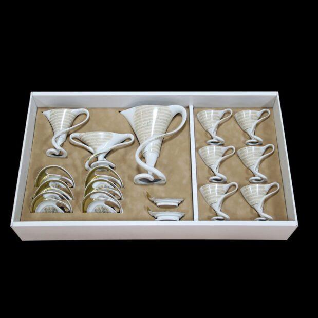 Antonin Dvorak Porcelain Coffee Set Limited Edition Crystallo by Thun Studio box