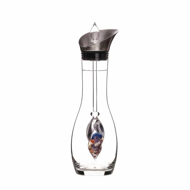 Ayurveda ERA decanter gemstone vial set crystallo by vitajuwel