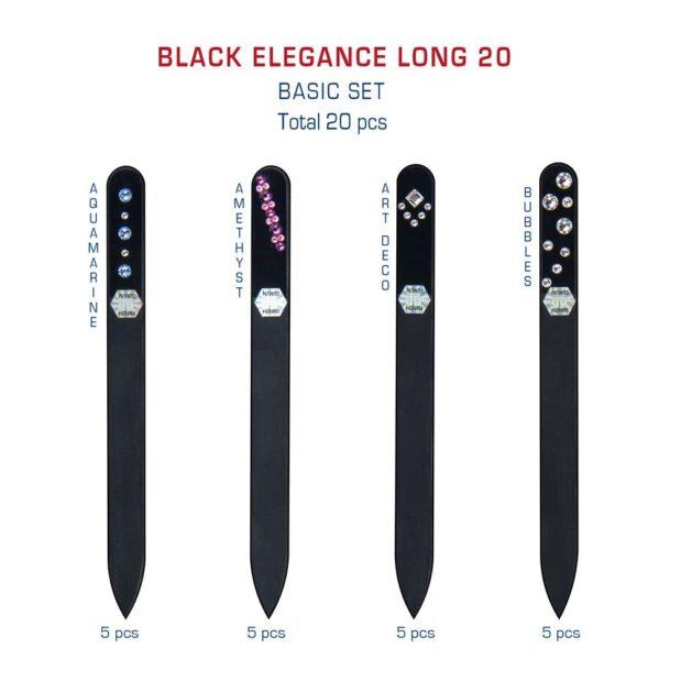 BLACK ELEGANCE Long 20 Set Crystal Nail File by Blazek detail