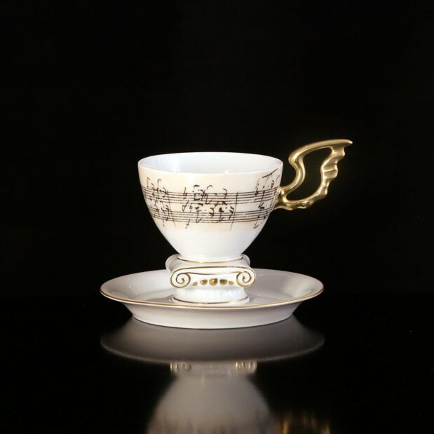 Beethoven Porcelain Coffee Set Cup Soucer Limited Edition Crystallo by Thun Studio 69
