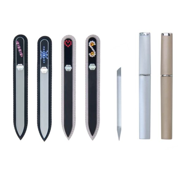 COLORFUL Long 20 Complete Set Crystal Nail File by Blazek sleeve