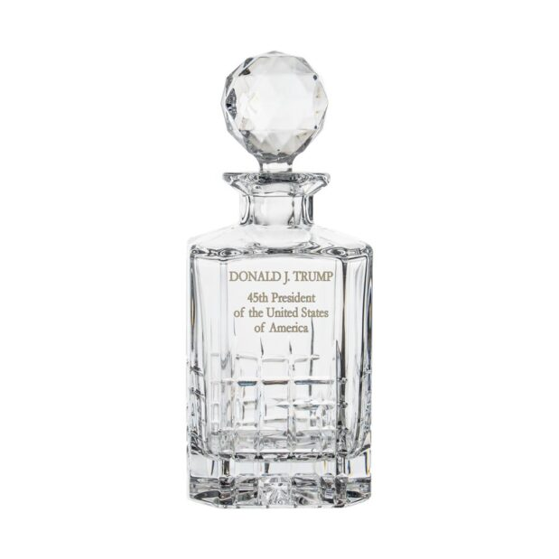 Donald Trump Presidency Decanter Crystallo