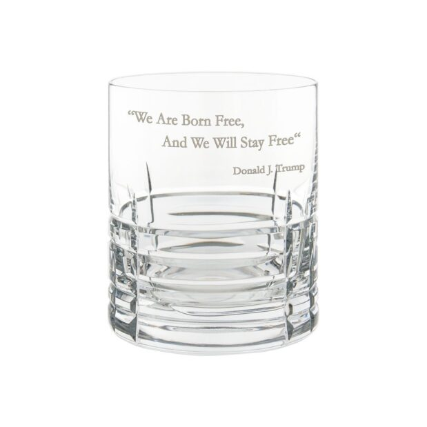 Donald Trump Presidency Whiskey Glass FREE Crystallo