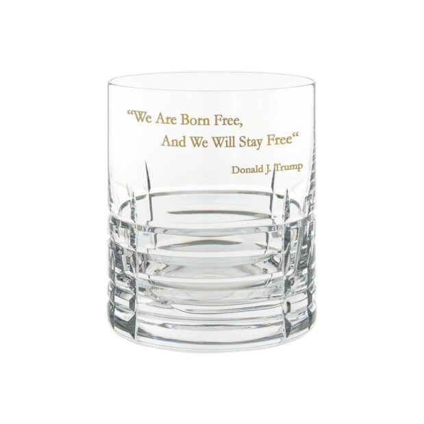 Donald Trump Presidency Whiskey Glass FREE Gilded Crystallo