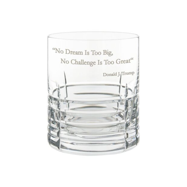 Donald Trump Presidency Whiskey Glass GREAT Crystallo