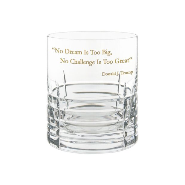 Donald Trump Presidency Whiskey Glass GREAT Gilded Crystallo