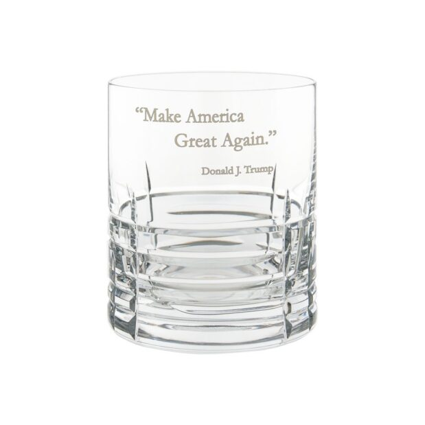 Donald Trump Presidency Whiskey Glass MAGA Crystallo