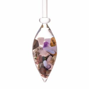 Five Elements gemstone vial crystallo by vitajuwel sq18