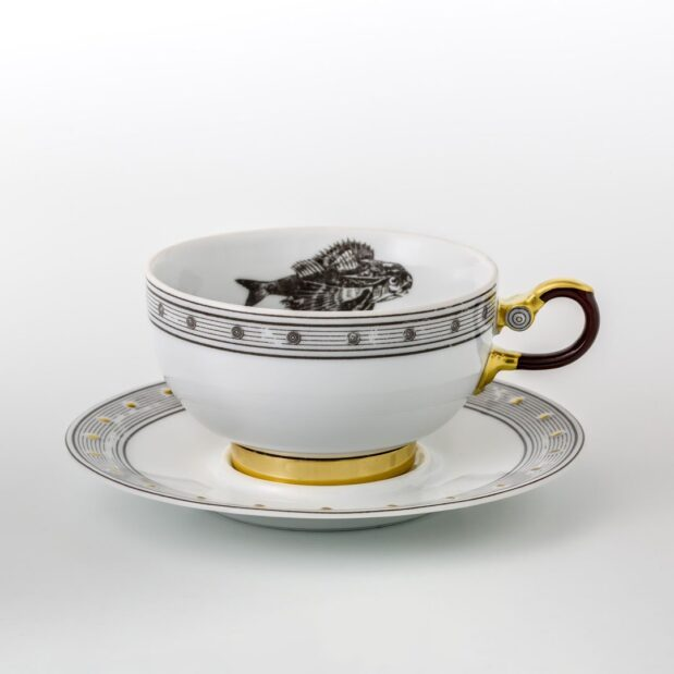 Jules Verne Porcelain Tea Set Cup Saucer Limited Edition Crystallo by Thun Studio 1063e