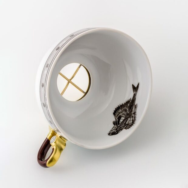 Jules Verne Porcelain Tea Set Cup Window Limited Edition Crystallo by Thun Studio 1090e