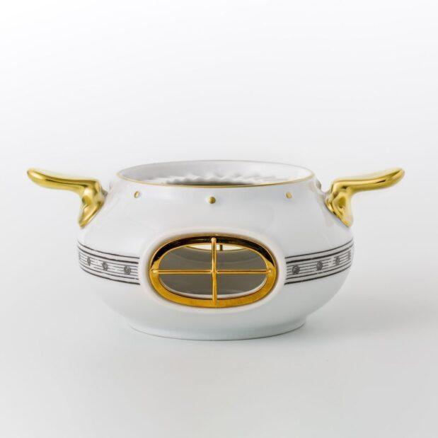Jules Verne Porcelain Tea Set Heater Limited Edition Crystallo by Thun Studio 1048e