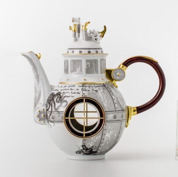 Jules Verne Porcelain Tea Set Kettle Limited Edition Crystallo by Thun Studio 1045e