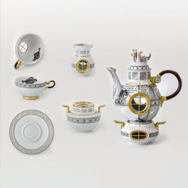 Jules Verne Porcelain Tea Set Limited Edition Crystallo by Thun Studio montage e