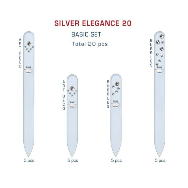 SILVER ELEGANCE 20 Set Crystal Nail File by Blazek detail