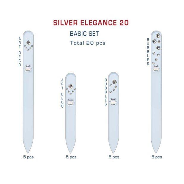 SILVER ELEGANCE 20 Set Crystal Nail File by Blazek detail