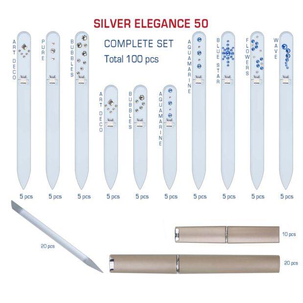 SILVER ELEGANCE 50 Complete Set Crystal Nail File by Blazek detail