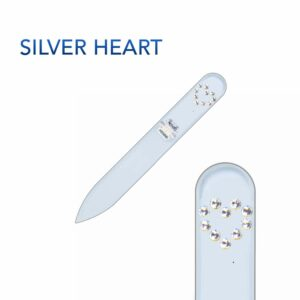 SILVER HEART Crystal Nail File Short by Blazek title