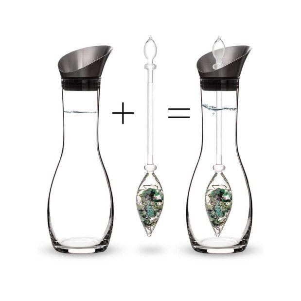 Vitality ERA decanter gemstone vial how to set crystallo by vitajuwel