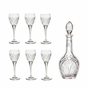 after dinner decanter set crystal brandy decanter cordial glasses nostalgia art deco Crystallo BG904NS 7