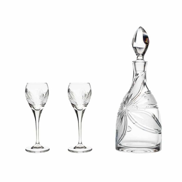 after dinner decanter set crystal decanter cordial glasses orchidea floral Crystallo BG904OR