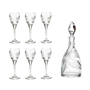 after dinner decanter set crystal decanter cordial glasses orchidea floral Crystallo BG904OR 7