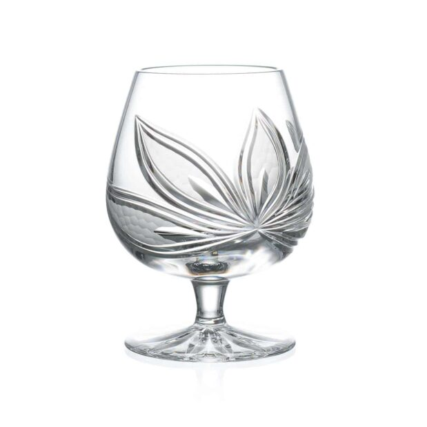 crystal brandy glass orchidea floral Crystallo BG306OR
