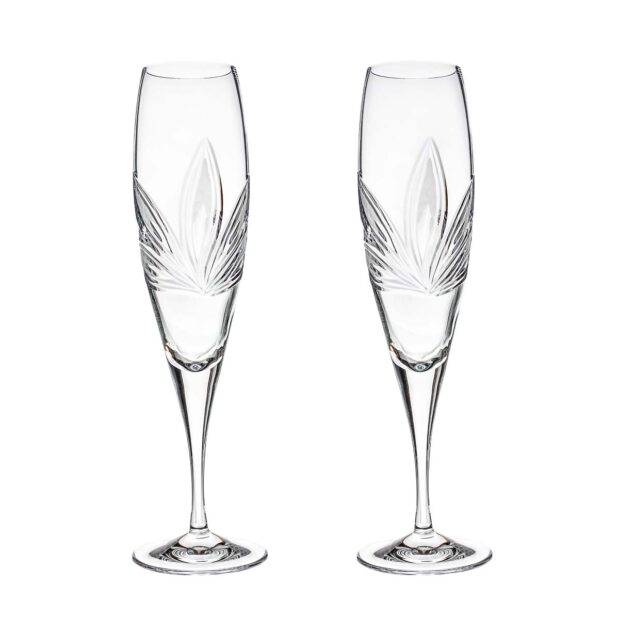 crystal champagne flute orchidea floral Crystallo BG401OR 2
