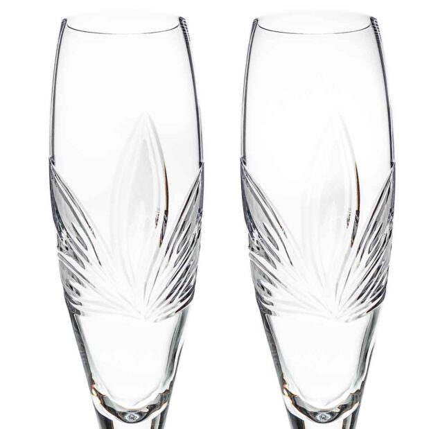 crystal champagne flute orchidea floral Crystallo BG401OR 2D