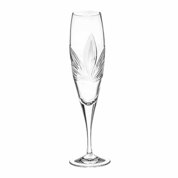 crystal champagne flute orchidea floral Crystallo BG401OR