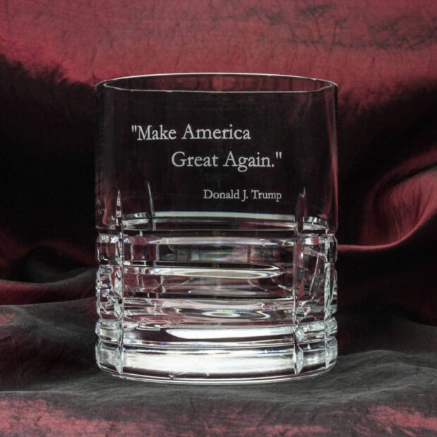 crystal decanter set donald trump presidency square decanter and old fashioned glasses harvard pattern Crystallo BG901HV D 1080px