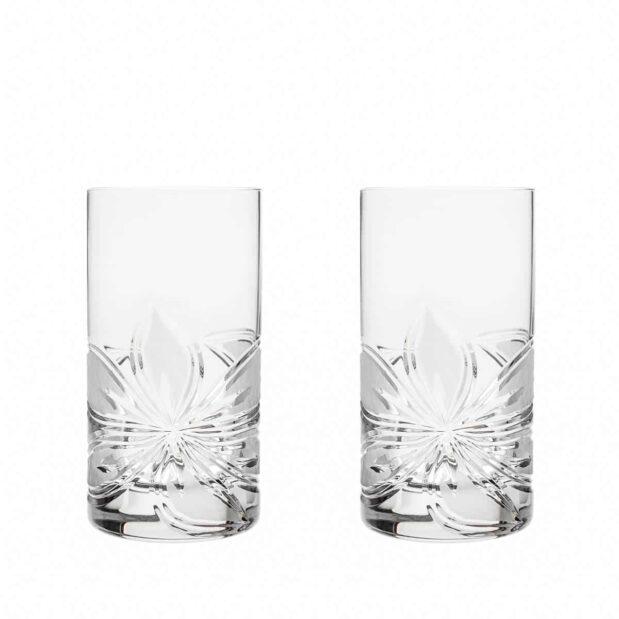crystal highball glass orchidea floral Crystallo BG302OR 2