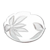 crystal large flat bowl orchidea floral Crystallo BG211OR