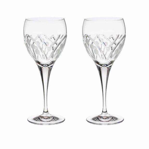 crystal red wine glass nostalgia art deco Crystallo BG404NS 2