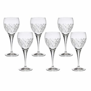 crystal red wine glass nostalgia art deco Crystallo BG404NS 6