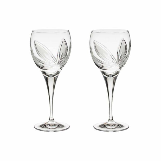 crystal red wine glass orchidea floral Crystallo BG404OR 2