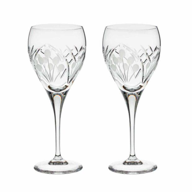 crystal red wine goblet nostalgia art deco Crystallo BG403NS 2