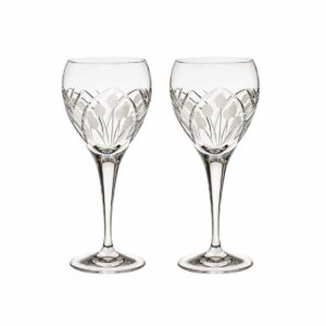 crystal white wine glass nostalgia art deco Crystallo BG402NS 2