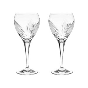 crystal white wine glass orchidea floral Crystallo BG402OR 2