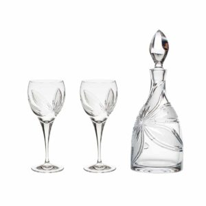 wine decanter set crystal decanter wine glasses orchidea floral Crystallo BG903OR